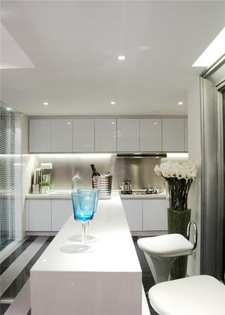简约风格公寓装修厨房吧台设计