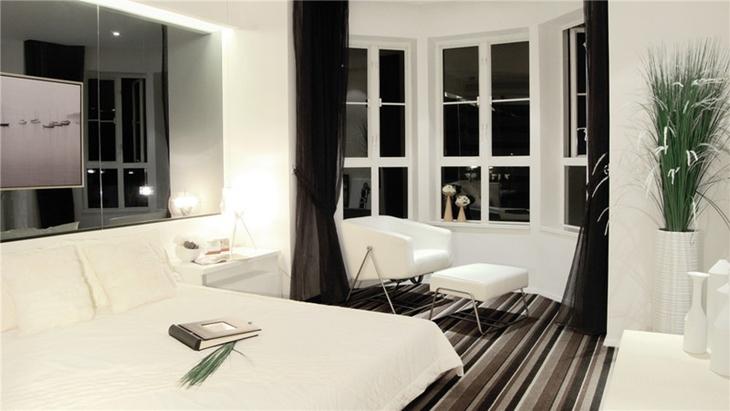 简约风格公寓装修卧室布置图