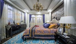 豪华新古典别墅卧室装饰图