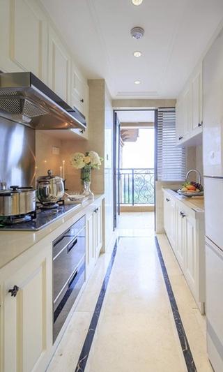 浪漫美式厨房过道效果图