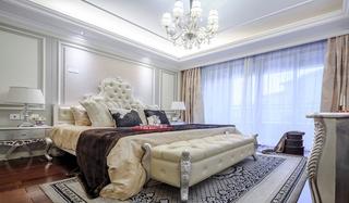 美式风格四室两厅装修床头软包设计