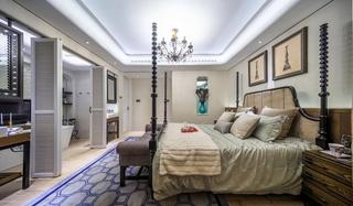 美式风格三居室装修卧室效果图