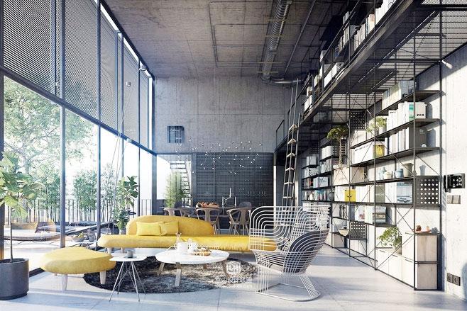 工业风格loft装修设计