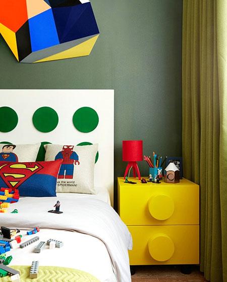 简约风格联排别墅儿童房床头柜