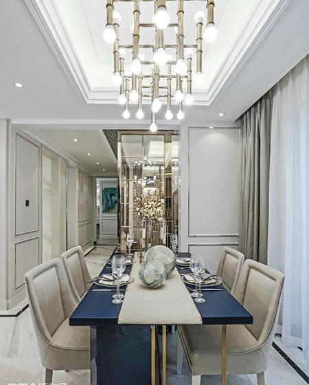 豪华精致法式餐厅效果图