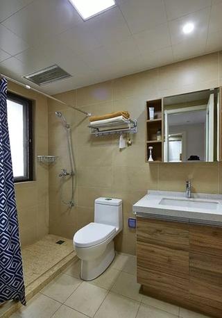 简约风格温馨卫生间旧房改造设计图