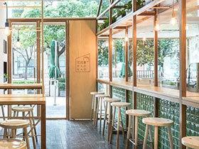 清新简约快餐店装修设计图