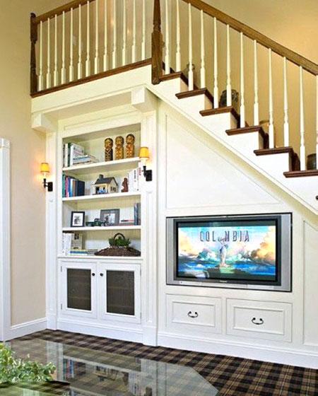 楼梯下墙面收纳设计图