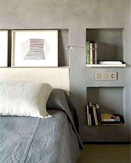 卧室背景墙收纳效果图装修