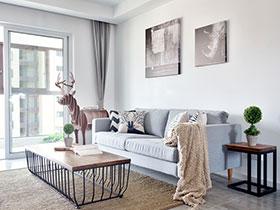 108平北欧风格效果图装修 对话舒适空间