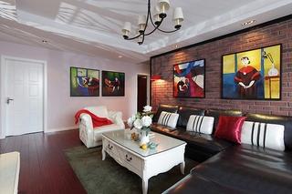 别致的混搭风格装修 这样的三居室谁都喜欢客厅效果图