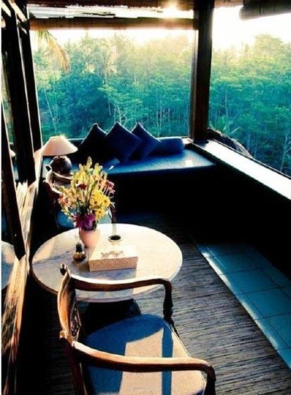 休闲阳台设计布置图片