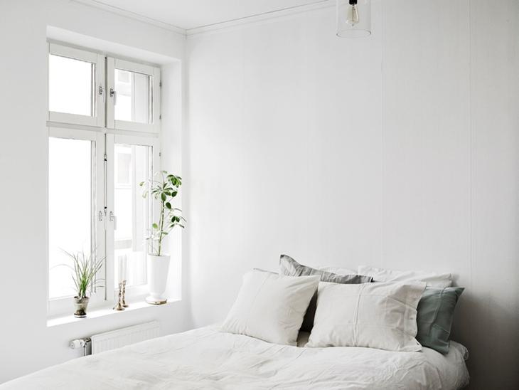 白色极简北欧风卧室效果图