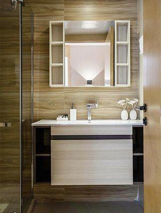 70㎡现代简约二居室卫生间图片大全