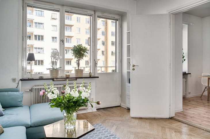 舒适简洁北欧风 客厅窗户效果图