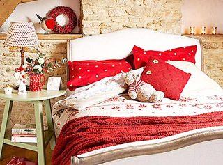 红色系卧室设计平面图