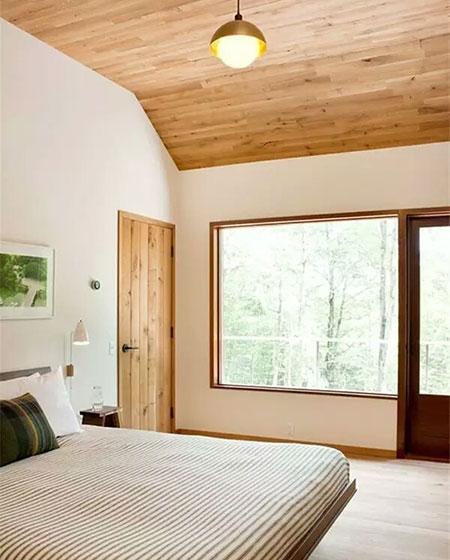 卧室原木色吊顶效果图