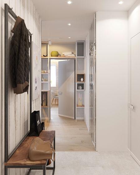 50平小公寓玄关装修图