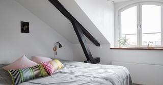 北欧风格阁楼卧室效果图装修