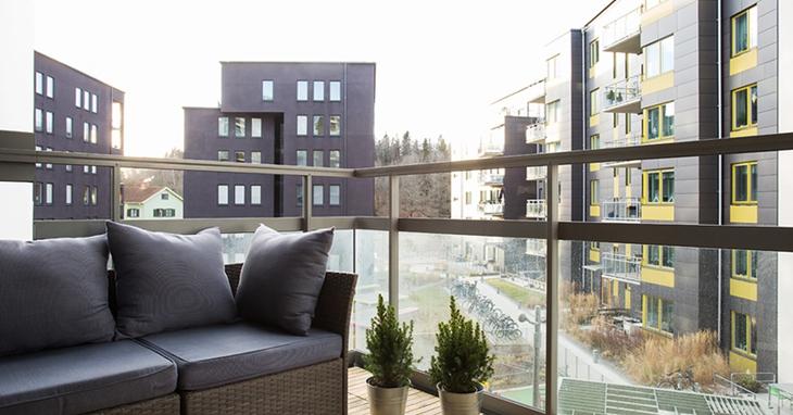 北欧风格三居室阳台效果图