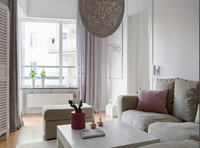 钢筋森林的静谧空间  北欧风格三居室装修