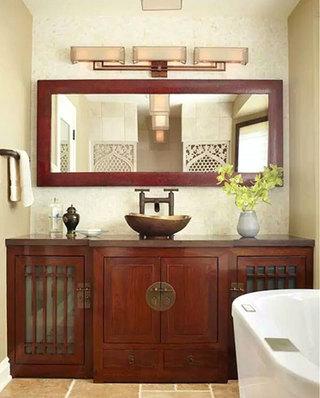 中式风格卫浴间效果图