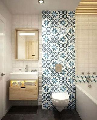 中式风格卫生间瓷砖装饰图