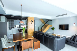 150平简约复式楼客厅效果图