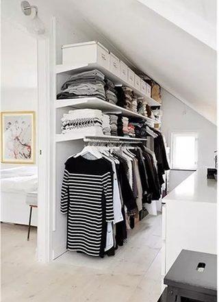 卧室衣柜收纳设计布置图
