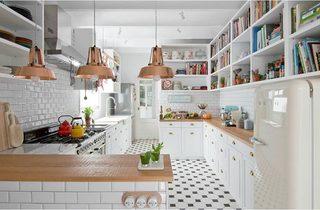 休闲厨房装修平面图