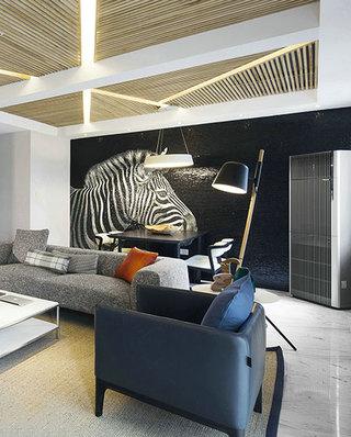 简约风格小复式客厅沙发图片
