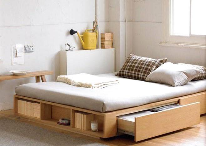 日式风格卧室收纳床设计图