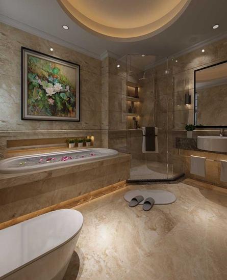豪华新中式大理石卫生间设计
