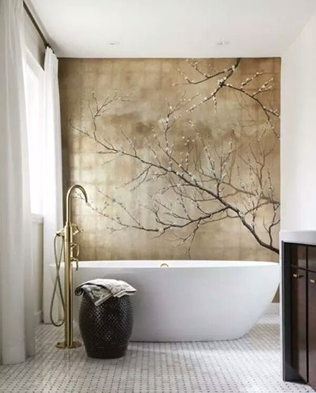 中式风格卫生间背景墙装修