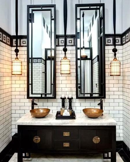 中式风格卫生间装潢装饰图