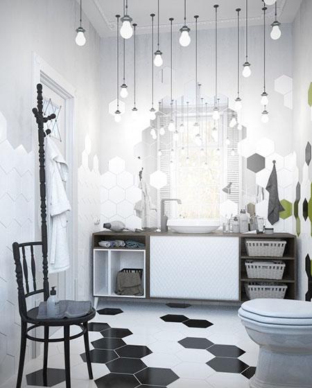 卫生间创意马赛克瓷砖图