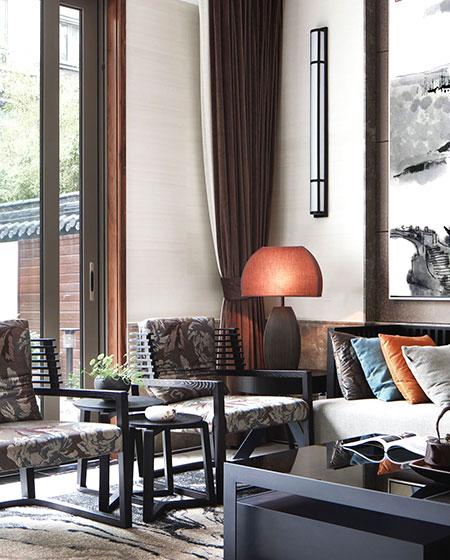 中式风格别墅客厅装修设计