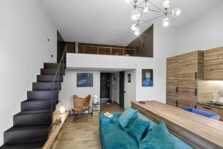 宜家风格loft公寓小清新整体衣帽间装修图片