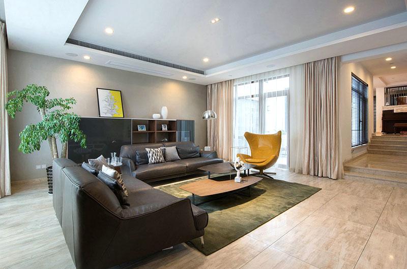 奢华大气现代风 错层客厅设计