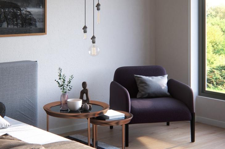 古典简欧风卧室 单人沙发效果图