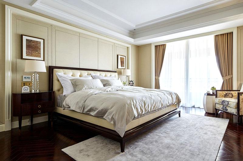 休闲简美式卧室效果图