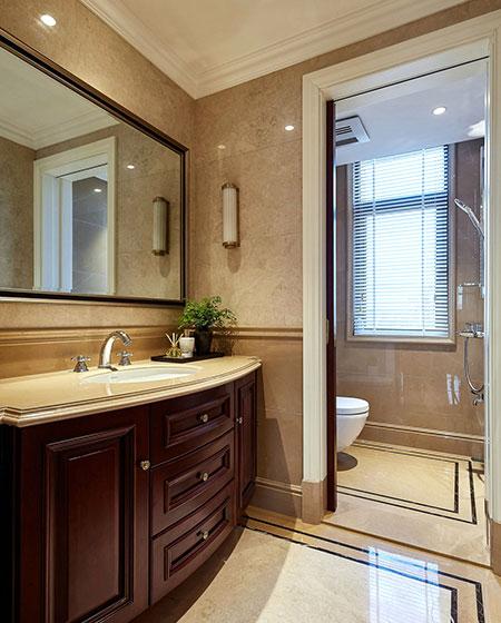 美式风格跃层装修卫生间设计图