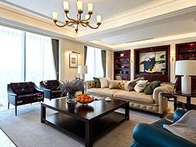 现代美式风格跃层装修效果图 有温度的家