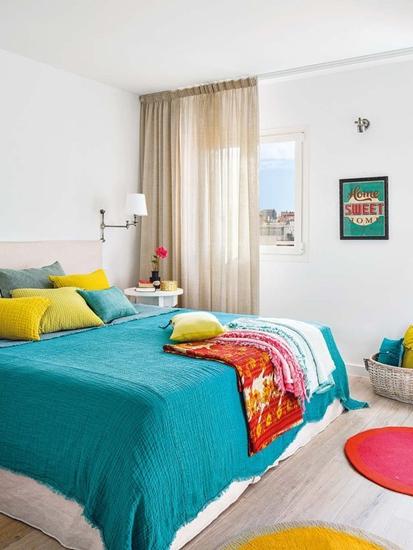北欧风卧室 绚彩软装设计