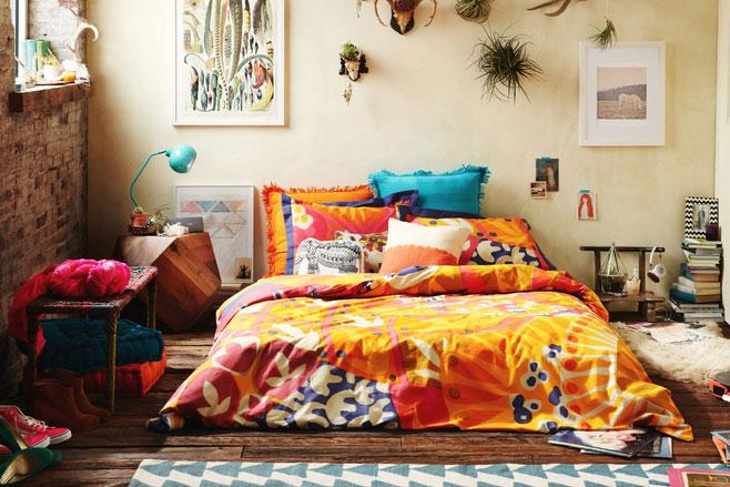 卧室多彩床品效果图