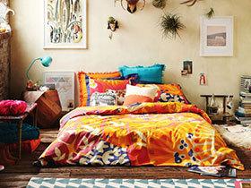 11个卧室彩色床品效果图 花样美家居
