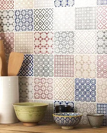 餐边柜背景墙瓷砖效果图