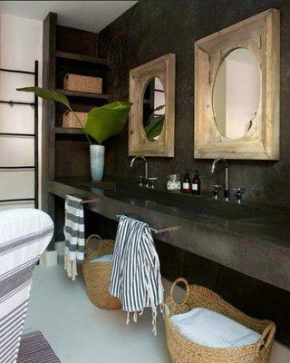 复古风浴室装修效果图片