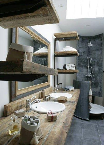 复古风浴室布置构造图