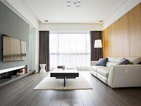 100㎡现代二居室设计图   通透实用感